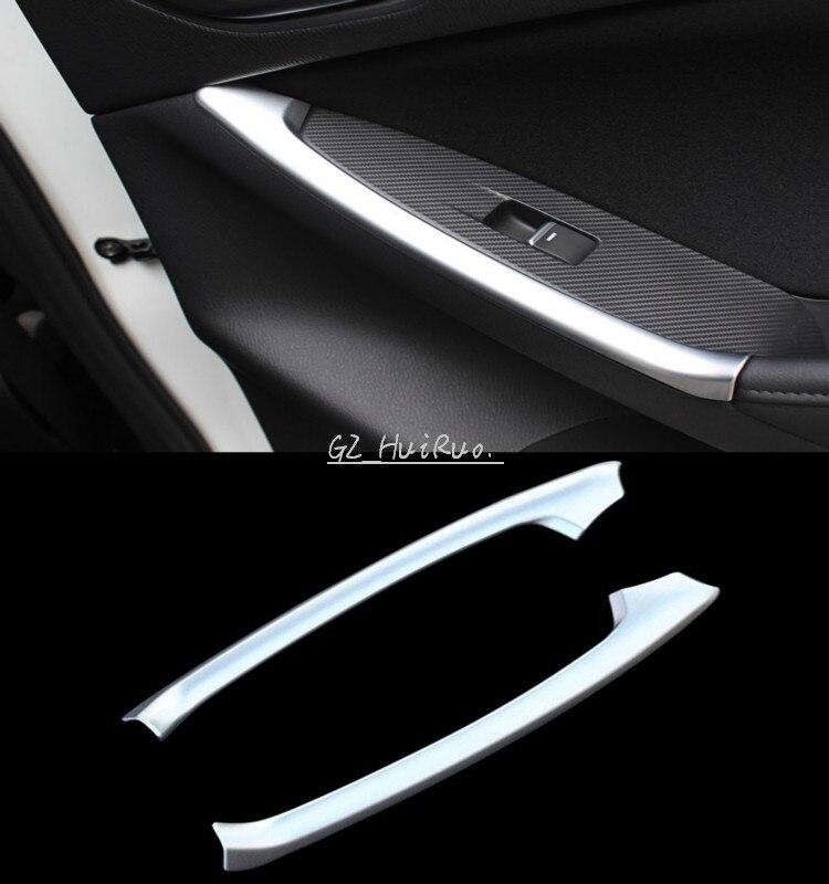 2pcs abs chrome car interior rear door armrest cover trim frame for mazda cx 5 2012 2013 2014. Black Bedroom Furniture Sets. Home Design Ideas