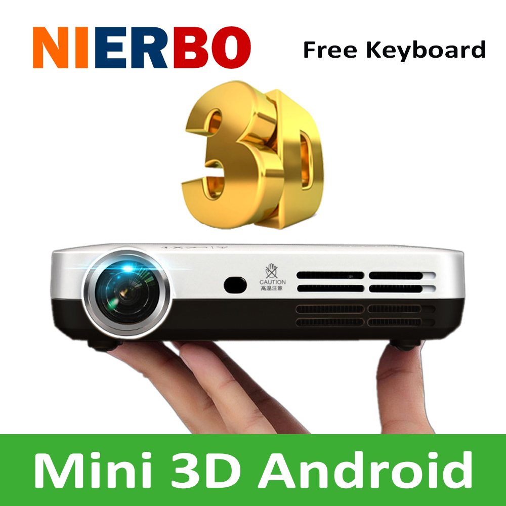 Mini 1080p Full Hd Led Projector Home Theater Cinema 3d: Mini 3D Projector 1080P Full HD DLP Smart Android Wireless
