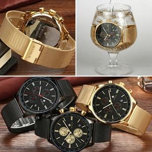 Image 5 - Wwoor ยี่ห้อ Luxury Mens นาฬิกา Chronograph กันน้ำสแตนเลสกีฬาผู้ชายนาฬิกาข้อมือนาฬิกาควอตซ์ชายนาฬิกา
