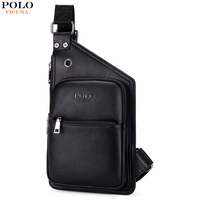 VICUNA POLO Casual Light Weight Men Crossbody Bag High Quality PU Leather Mens Sling Shoulder Bag