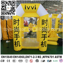 2017 inflatable money booth machine with cash cube customized logo design