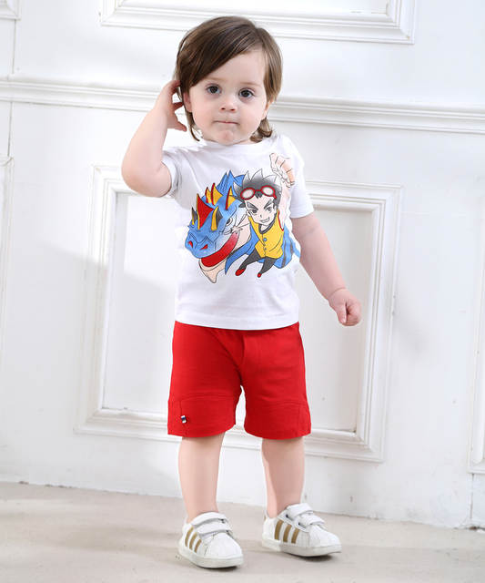 e84621576 Online Shop 0-2 Years-Old Baby Boys Clothing Set Short Sleeve Wear ...
