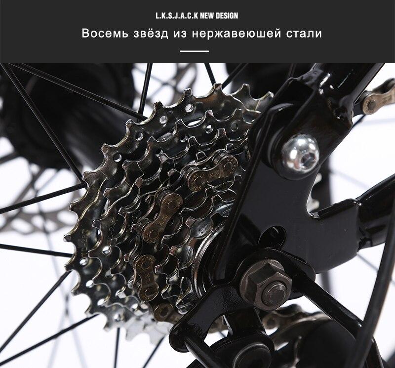 "HTB1Fu2uXjnuK1RkSmFPq6AuzFXaU LAUXJACK Fat Bike Full Suspension Steel Foldable Frame 24 Speed Shimano Mechanic Brake 26""x4.0 Wheel"