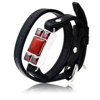 For SHAREMORE Smart Bangle Men Bracelet Wristband Stone Emergency Call Wireless Remote Selfie Information Reminder Portable