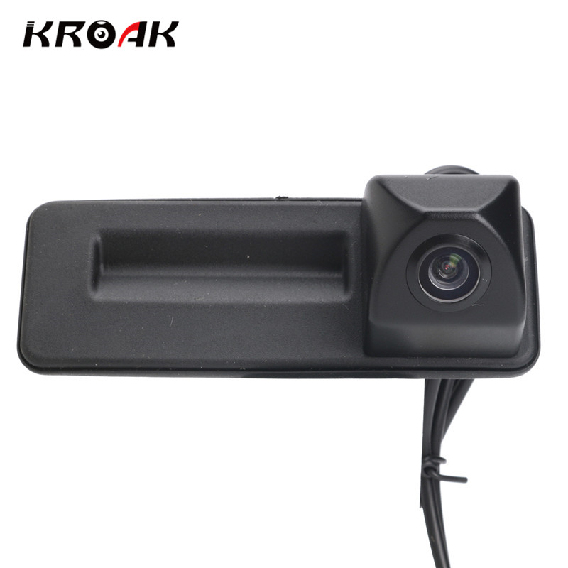 HD CCD Car Rear View Camera For Audi A1/Skoda/Roomster/Fabia/Octavia/Yeti/Superb Night Vision Reverse Camera bigbigroad car trunk handle rear view backup reverse camera for skoda roomster fabia octavia 5e mk2 yeti superb audi a1
