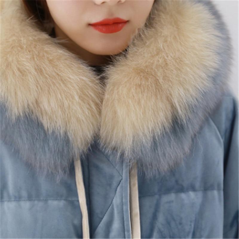 Doudoune Or Bleu Femelle Vêtements Velours Taille Col Nouvelles Fourrure Blue De D'hiver Le Manteau Femmes 2019 Grande Longue Yyy359 Sur Genou ScBqvW8zW