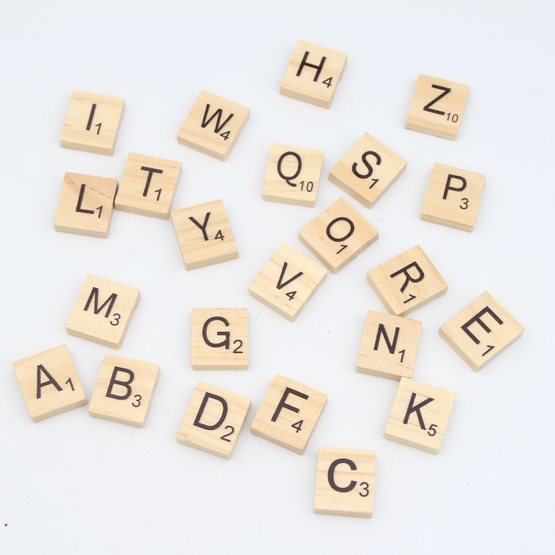 Beads & Jewelry Making Beautiful 100pcs Wood Beads Nature Color Letter Alphabet Wooden Beads For Jewelry Making Diy Puzzle Kids Adult Scrabble