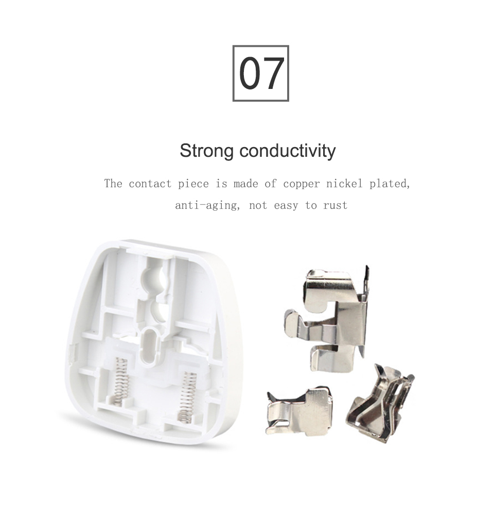 Universal EU US AU to UK AC Power Socket Plug Travel Charger Adapter Converter White ABS Electric Plugs For Mobile Phone Laptop (12)