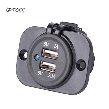 Prise allume-cigare double USB izmélanger étanche et anti-poussière 3.1A haute puissance 12 V 24 V chargeur adaptateur secteur pièces de sortie