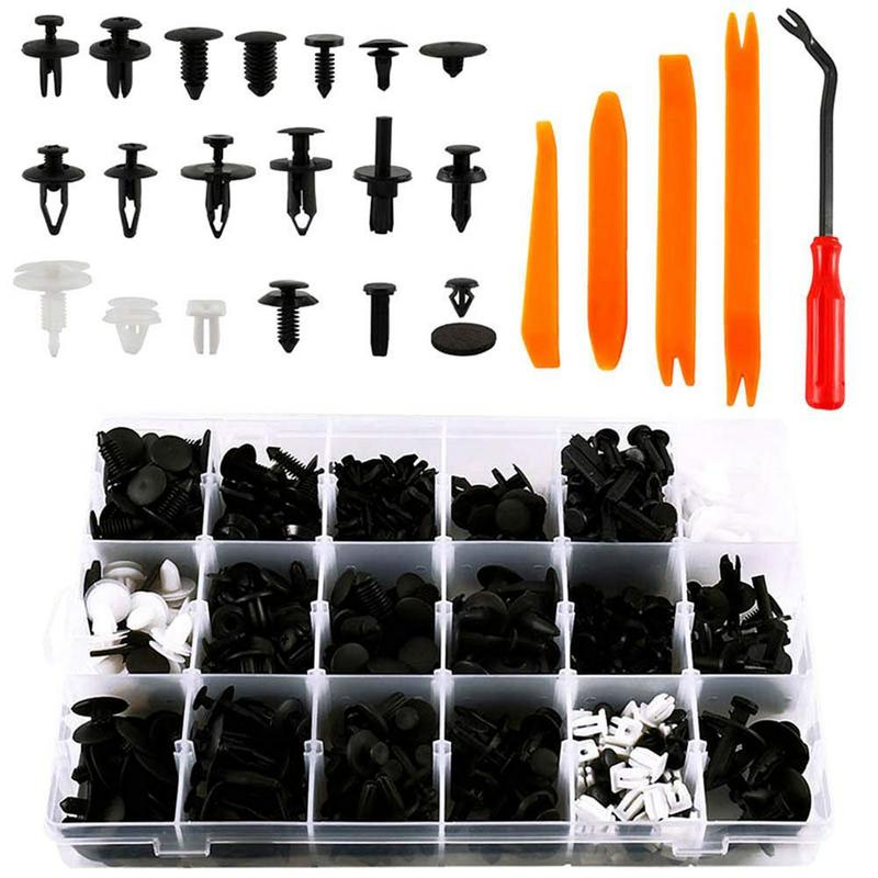 Plastic Rivets Clips Screws-Panel-Fastener Fender-Bumper Car-Body-Interior Trim-Assortment-Kit