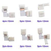 5 ~ 500set L Form 2pin 3pin 4pin 5pin 6pin LED Stecker Für anschluss ecke rechten winkel 5050 RGB RGBW 3528 ws2812 LED Streifen