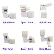 5~ 500 набор L форма 2pin 3pin 4pin 5pin 6pin LED разъем для подключения угловой правый угол 5050 RGB RGBW 3528 ws2812 Светодиодная лента