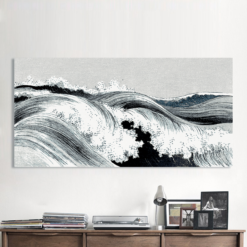 100%hand painted Abstract Oil Painting Great Wave Canvas Art Wall Pictures For Living Room Home Decor hand Painted Frameless