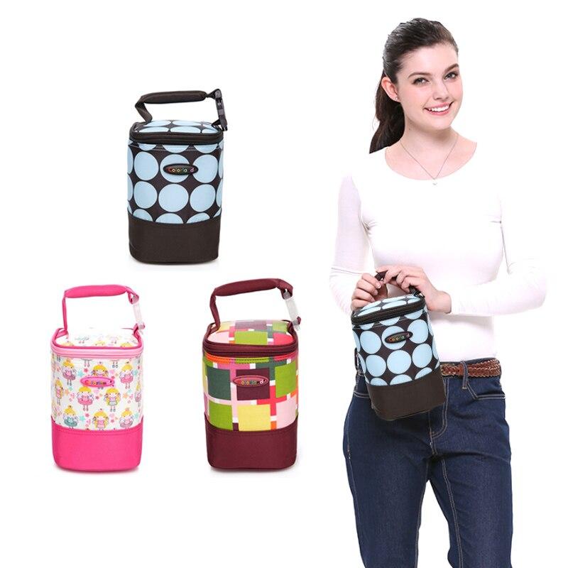 Baby Feeding Bottle Insulation Bag Warmer Mummy Tote warm Bags Waterproof Mummy Bag Stroller Hanging Multi Functional Handbag