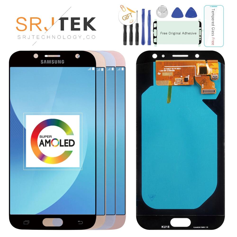 Original 5.5'' AMOLED Display for SAMSUNG Galaxy J7 Pro J730 LCD For SAMSUNG J7 2017 Display Touch Screen Digitizer J730F