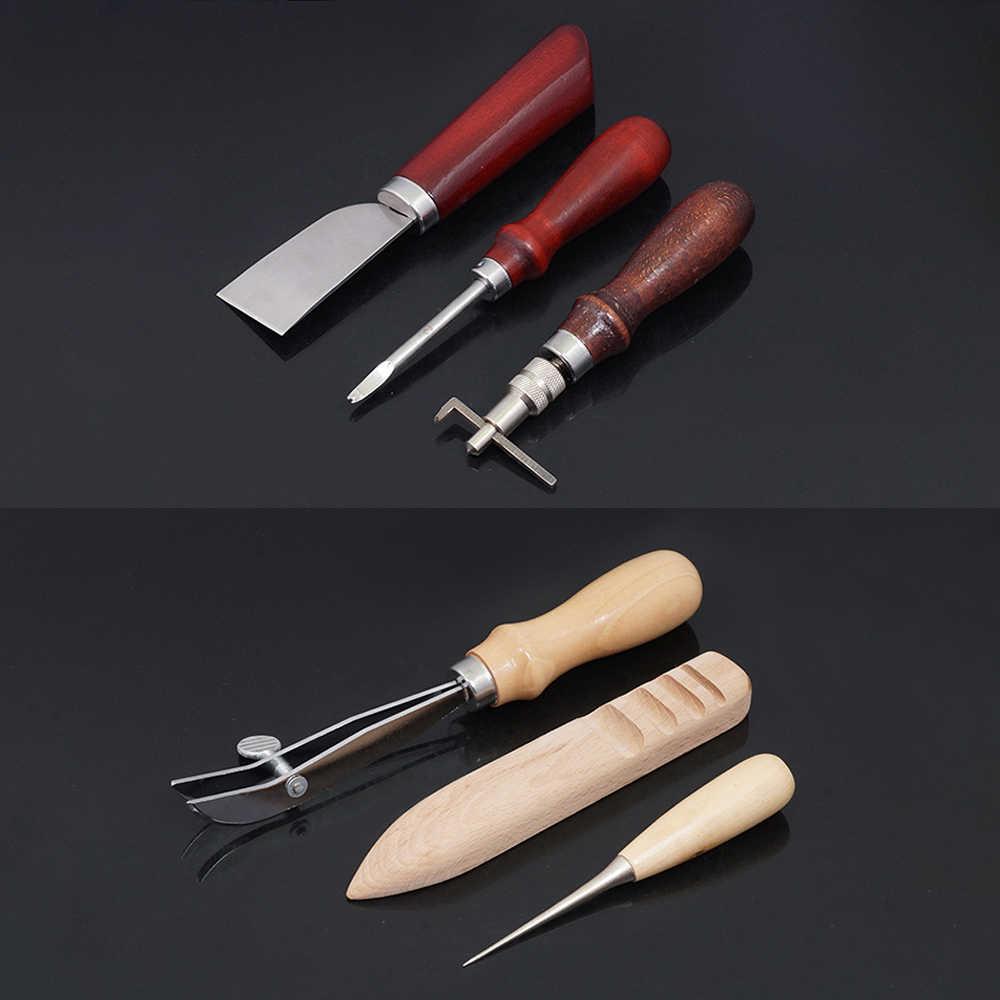Profissional 6 pçs couro artesanato ferramentas kit mão leathercraft acessórios de couro que faz a ferramenta conjunto