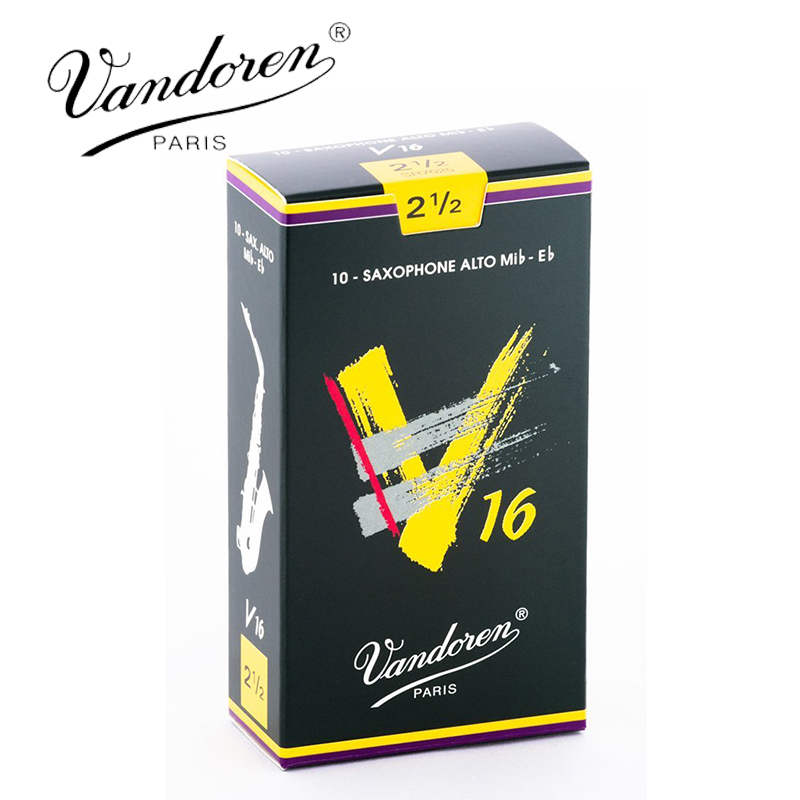Original France Vandoren V16 Alto Sax Reeds / Saxophone Alto Mib-Eb Reeds Strength 2.5#, 3#, 3.5# Box of 10 [Free shipping]