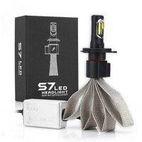 Pair of Car LED H1 H4 H7 Led Bulb H27 H3 HB3 HB4 H11 H13 9004 9007 LED Headlight Bulbs 60W 6400lm 6000K S7 Auto Headlamp 12v 24V