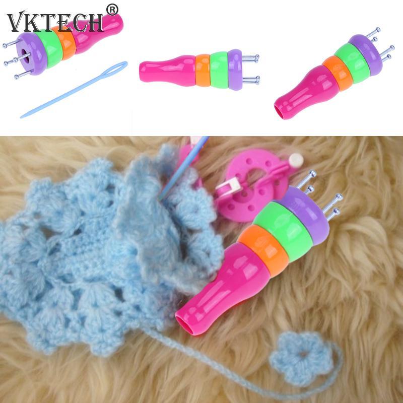 Spool Crochet Loom Mini Knitter Knitting Yarn Wool Rope Needle DIY Hook FO