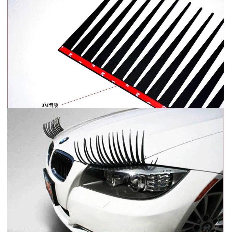 Maiwuqi 1 Pair 3d Stereoscopic Car Headlights Eyelashes Cartoon