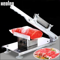 Xeoleo Manual Meat Slicer Frozen Meat Machine Vegetable Slicing Machine Cut Carrot Cucumber Potato Lotus Root