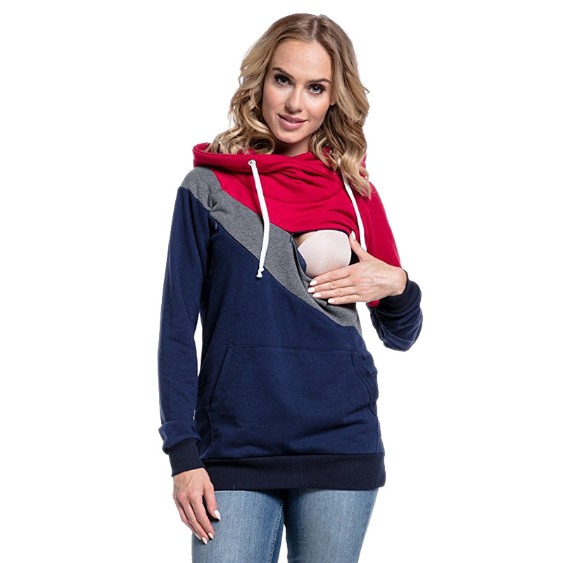 Maternity Hoodies Long Sleeve Nursing Sweater Zipper Breastfeeding Sweatshirts For Pregnant Women Clothes Feeding Pullover TopsMaternity Hoodies Long Sleeve Nursing Sweater Zipper Breastfeeding Sweatshirts For Pregnant Women Clothes Feeding Pullover Tops
