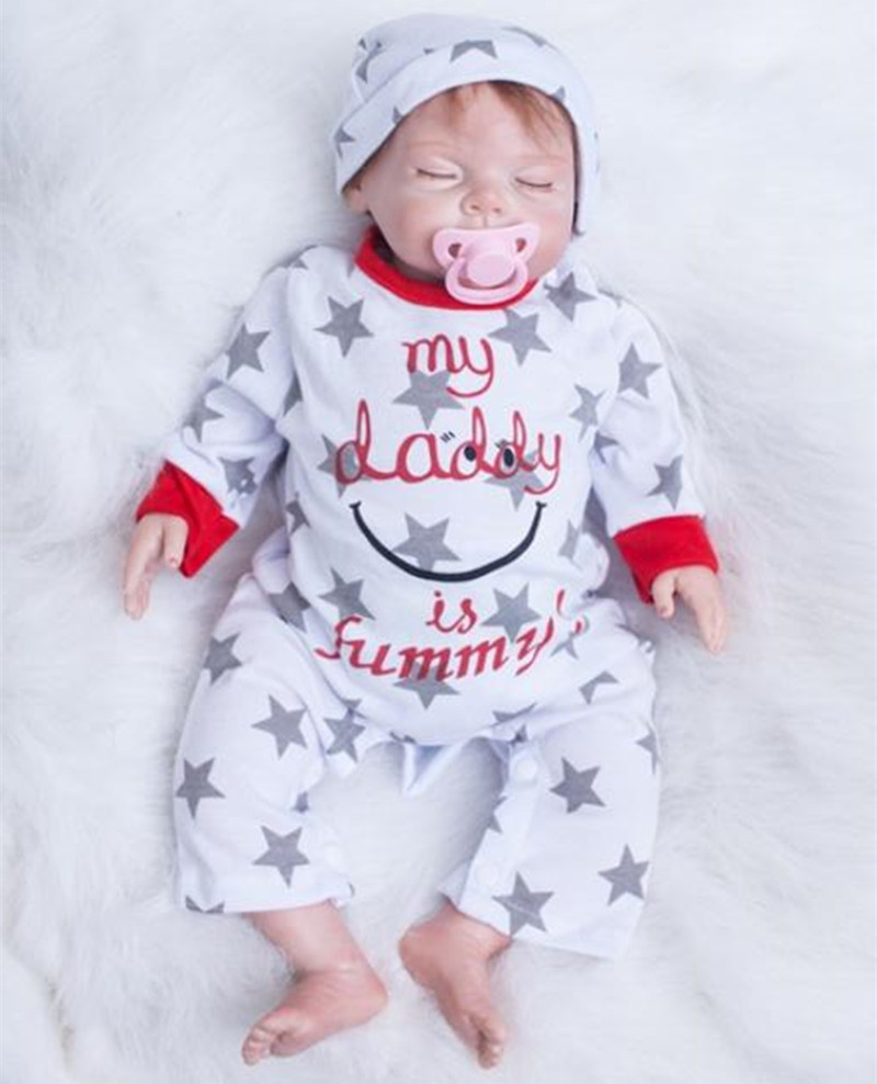 Free Shipping very Soft 22inch Bebe Reborn Baby Doll Realistic lifelike Soft Silicone Vinyl Real Gentle Touch Juguetes Brinquedo wholesale realistic simulation reborn baby doll soft silicone vinyl real gentle touch rooted human hair