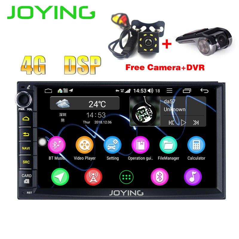JOYING 4 GB RAM Octa core 2 din 7 Android 8.1 voiture stéréo autoradio TDA 7851 radio gps unité de tête avec livraison arrière vue caméra DVR