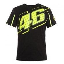 2017 Valentino Rossi VR46 Black T-Shirt The Doctor MotoGP 46 Motor Sports Shirt