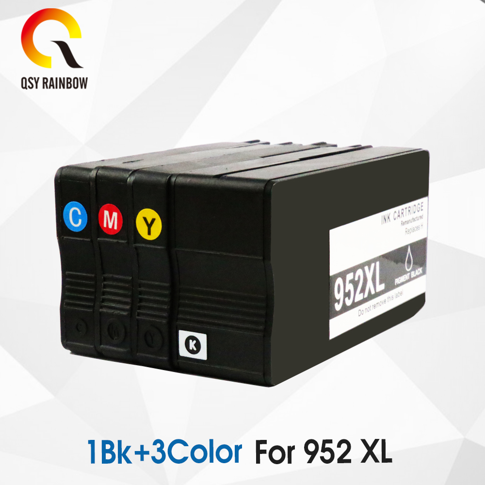 CMYK SUPPLIES 4 PCS Compatible <font><b>952xl</b></font> ink cartridge for hp <font><b>952XL</b></font> Officejet 8727 8728 8730 8734 8735 8736 8740 All-in-One Printer image
