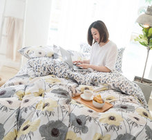 Cute sunflower single double bedding set adult teen,cotton twin full queen king home textile bed sheet pillow case quilt cover