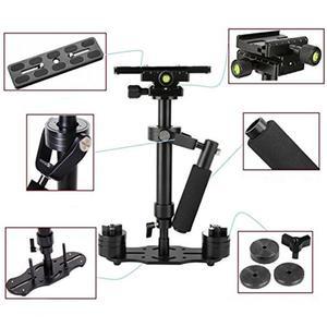 Image 5 - S40 Handheld Aluminum Alloy Video Stabilizer Mount for Phone Canon Nikon DSLR DV AEE DSLR Video Camera for Steadicam