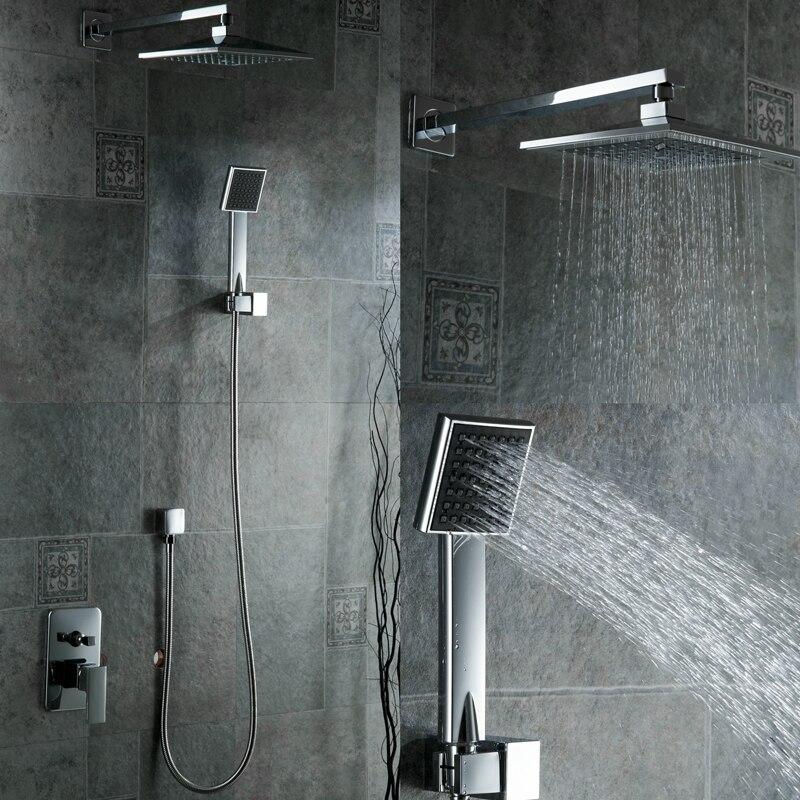 Livraison gratuite nouveau Chrome laiton pression d'eau booster salle de bain pluie 8