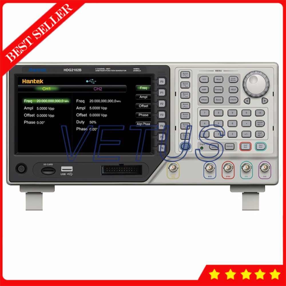 Hantek HDG2102B Function Generator Price with 64M Memory 100MHz 250MSa/s  Signal Arbitrary Waveform Generator
