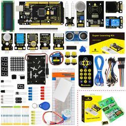 KS0079 Keyestudio супер стартовый набор/Обучающий набор с Mega2560R3 для Arduino образовательный проект + PDF (онлайн) + 32 проекта + подарочная коробка