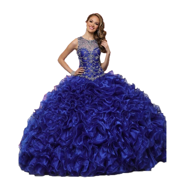 82388e8c5ca 2017 Dark Blue Quinceanera Dresses Custom Made Mint Long Organza Cheap Ball  Gowns Vestidos De 15