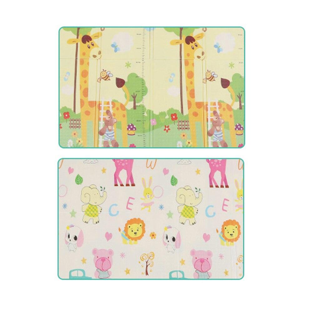 Pliable bébé tapis de jeu pour enfants tapis tapis enfants développement tapis Double face bébé ramper Pad 180 cm * 200 cm