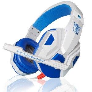 Image 5 - Oyun kulaklık USB 3.5mm oyun kulaklık arayüzü LED ses kontrolü aşırı kulaklıklar mikrofon ile PC için oyun kulaklık