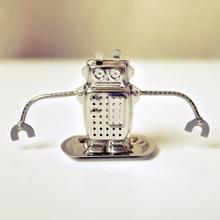 Hot Cute Creative Stainless Steel Hanging Robot Infuser Loose Tea Leaf Strainer Filter Diffuser Tea Essential