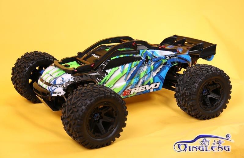 Rc voiture rouleau cage housse de protection en nylon cadre barre de roues pour 1/10 traxxas E-REVO 2.0 86086-4