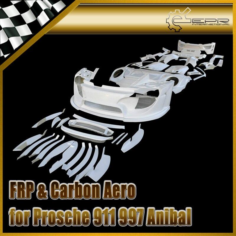FRP Fiber Glass Full Wide Arch Body Kit 42pcs (Without Light) Fiberglass Exterior Auto Trim Fit For Porsche 911 997 Anibal Style