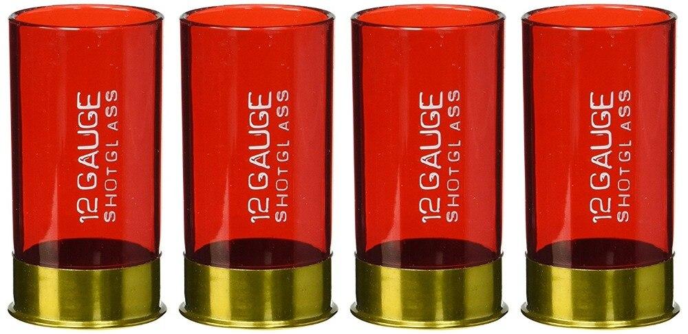 12 калибра пластиковые выстрел Стекло красный для партии (набор из 4)
