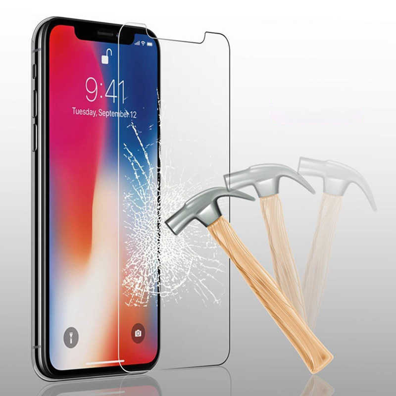 GerTong Tempered Glass Screen Protector for iPhone 4 4s 5 5c 5s SE 6 6plus 6s 6splus 7 8 Plus X XR XS Max Film pelicula de vidro