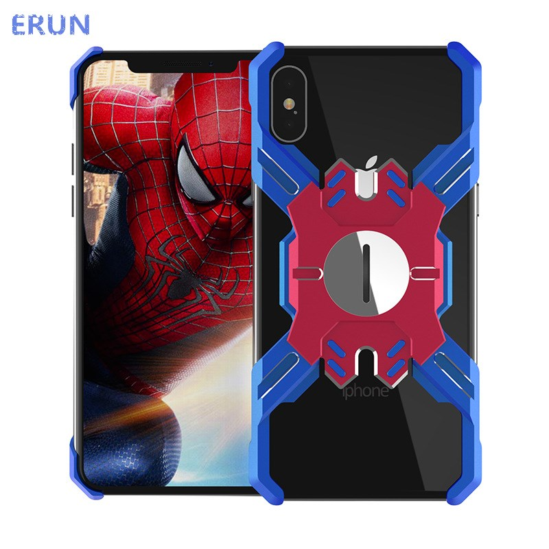 Suitable for iPhone xs max Spider Man Metal case for iPhonexs Iron Man case for Apple XR phone case Ultra thin