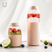 Xiaomi Jordan&Judy Fruit Cup Portable Large Capacity Couple No BPA Silicone Case Bottle Coffee Mug Caneca