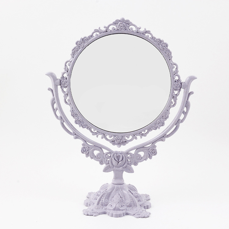 Makeup Mirror Desktop Rotatable Gothic Mirror Butterfly Rose Decor Beauty Tool @ME88