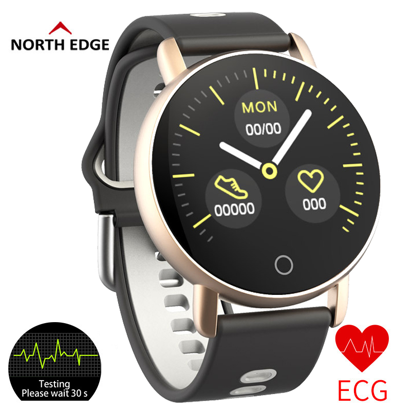 North Edge Smart Watches ECG PPG Heart Rate Blood Pressure Men Fitness Tracker Oxygen Smartwatch Sport Digital Watch SmartbandNorth Edge Smart Watches ECG PPG Heart Rate Blood Pressure Men Fitness Tracker Oxygen Smartwatch Sport Digital Watch Smartband