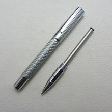 Fuliwen Roller Ball Pen Silver Carbon Fiber Heavy F9027