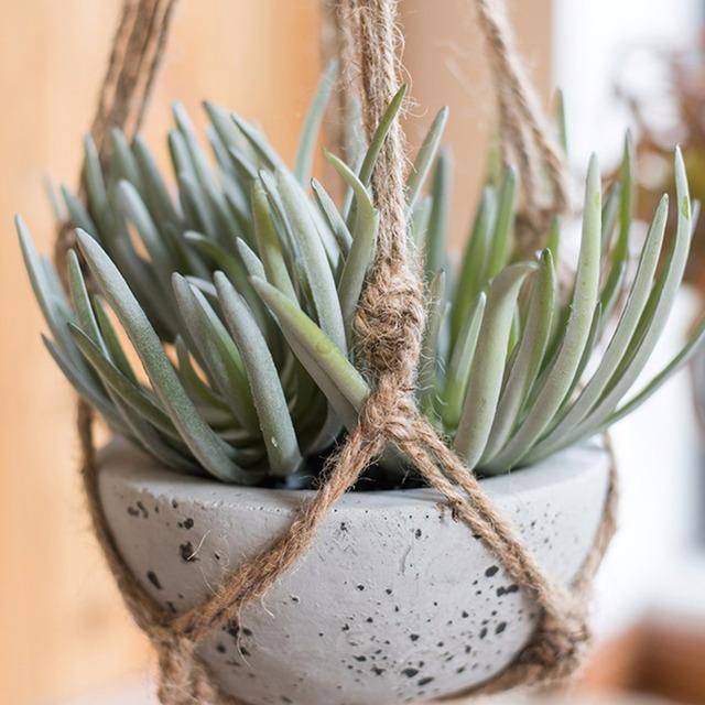 40 Inch Flowerpot Plant Hanger Macrame Jute Rope Indoor Outdoor Decorative Cord