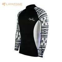 Layatone Rash Guard Men Long Sleeves Swimwear Swimsuit UV 50+Swimming Surfing Bathing Suit Water Sport Beach Fitness Gym Shirts